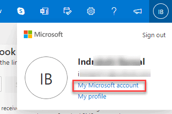 my Microsoft account outlook