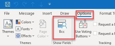 Enable the BCC Field in Outlook 365