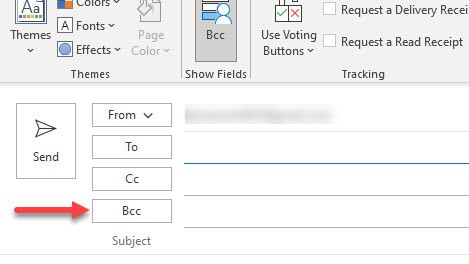 How To Enable the BCC Field in Outlook 365
