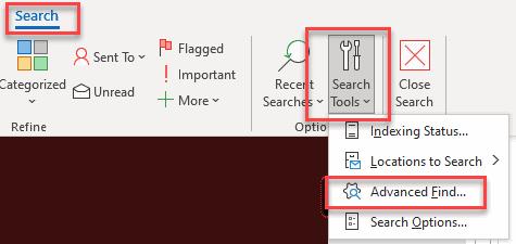 Advanced Find Search