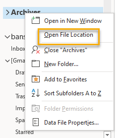 How to find the archive file Stored