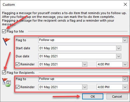 Send An Email Message With Reminder