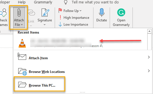 attach image in outlook