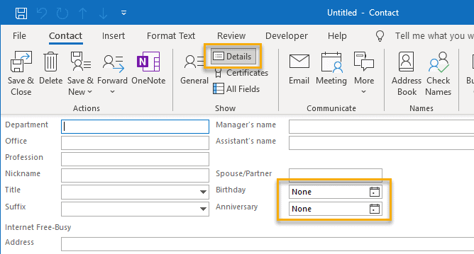 How To Add Birthdays To Calendar In Outlook