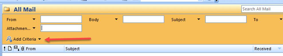 click add criteria