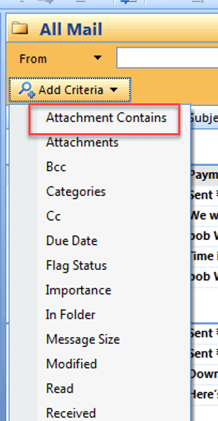 click attachment caintain